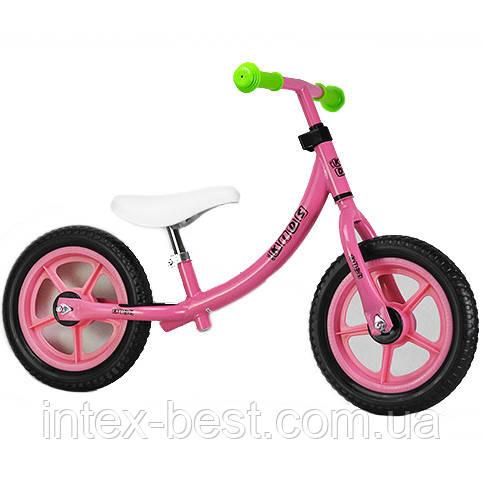 """Беговел Profi Kids 12"""" M 3437-2 Розовый/Зеленый"""
