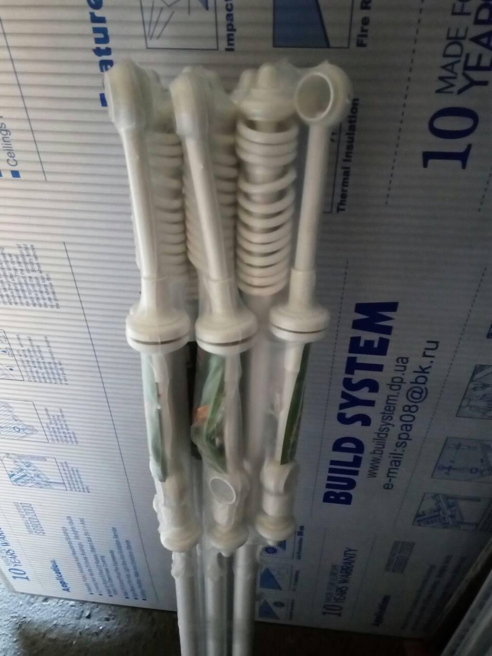 Карнизы трубчатые металлопластиковые для штор и гардин 2,8 м, Двойной, Белый
