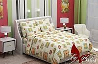 Двуспальный Комплект постельного белья ранфорс классик RC13852red