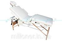 Массажный стол деревянный 4-х сегментный для массажа