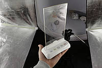 Холдер - подставка для рекламы и меню с кнопками вызова официанта и персонала R-85 White Holder RECS USA