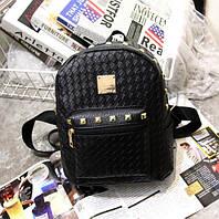 Черный женский рюкзак экокожа