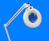 Лампа лупа підлогові на колесах на штативі з люмінесцентним підсвічуванням ., фото 2