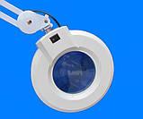 Лампа лупа підлогові на колесах на штативі з люмінесцентним підсвічуванням ., фото 5