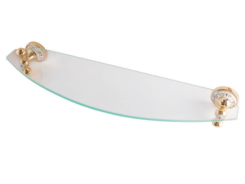 Полиця до ванної скляна Kugu Medusa 703G, золото