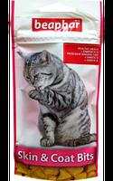 Beaphar Skin & Coat Bits 35 г-подушечки для здоровой кожи и красивой и блестящей шерсти котов(11438)