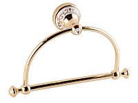 Тримач для рушників кільце Kugu Medusa 704G, золото, фото 1