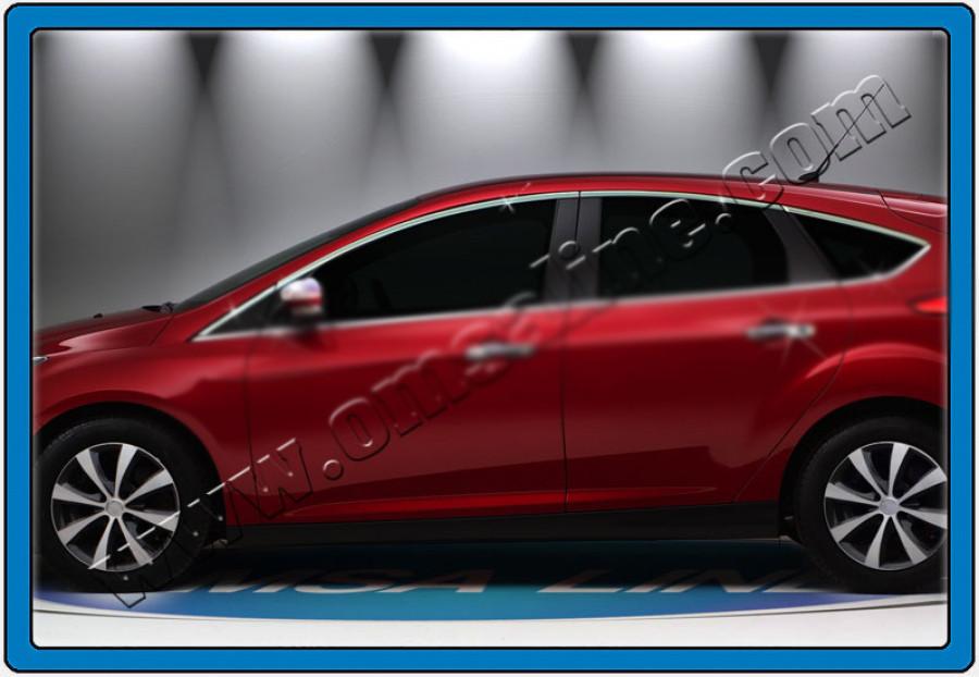 Верхняя окантовка стекол на Тойота Королла 2013+ (4шт) - Автомагазин Баклажан - тюнинг для авто, запчасти, автохимия, автоаксессуары. в Киеве