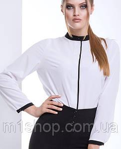Женская белая классическая блузка больших размеров (Алана lzn)