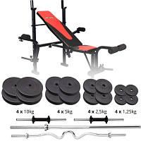 Набор Premium 91 кг со скамьей HS