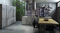 Кухня RODA МОНБЛАН: фасад из мега прочного цельного двустороннего HPL-пластика 12 мм (про-во Италия)
