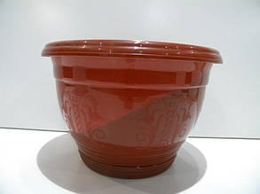 Кашпо Петуния №2 (д.250-5л) корич