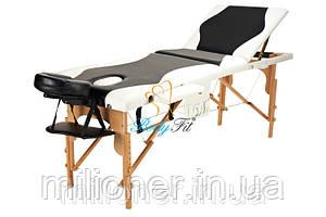 Массажный стол деревянный 3-х сегментный стол для массажа 2 цвета