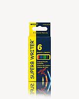 """Карандаши цветные MARCO 4100-6Н 6цв.серия """"SuperB Writer"""" очень мягкие, маленького размера"""