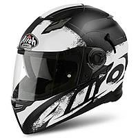 Шлем Airoh Movement-S Cut черно-белый матовый,  XL