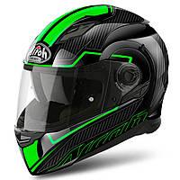 Мотошлем Airoh Movement S Faster черный - зеленый, M