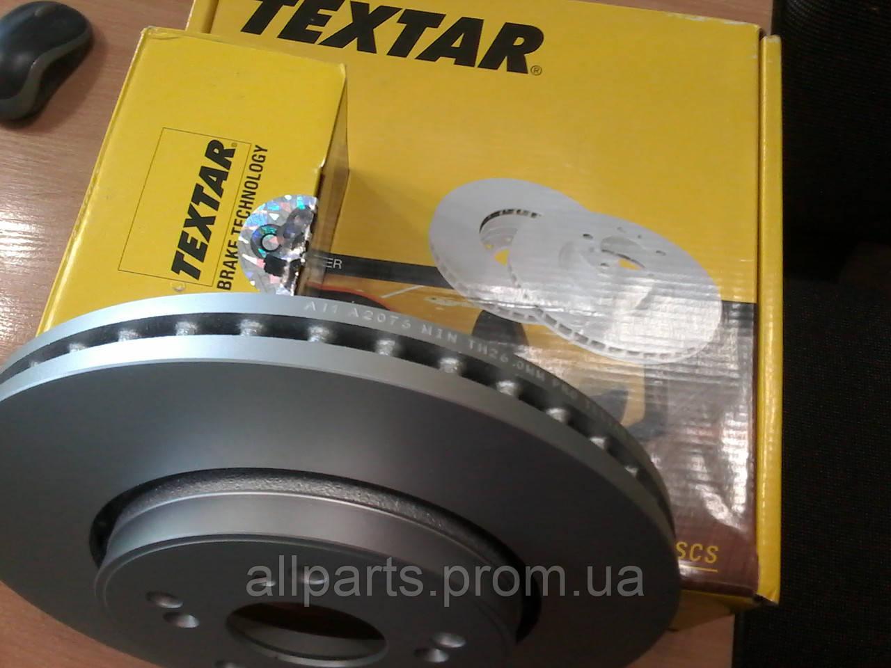 Тормозные диски передние Honda CR-V III,IV (RE, 2006- ) Textar с покрытием