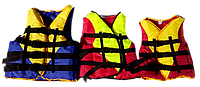 Спасательный (страховочный) жилет детский с подголовником, вес 10-30 кг салатово-красный