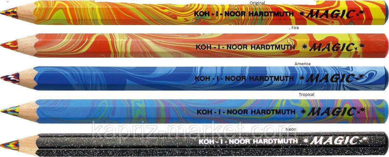 Олівець кольоровий, магічний, товстий, 1 шт.