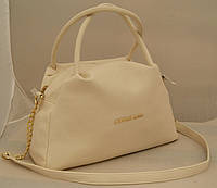 Женская сумка Michael Kors, бежевая Майкл Корс MK