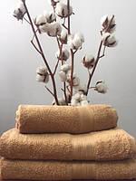 Махровое полотенце 40Х70 карамельный