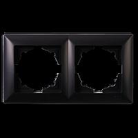 Visage Черный Рамка двойная горизонтальная
