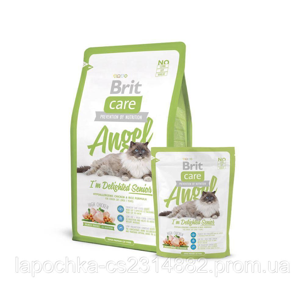 Корм Brit Care Cat Angel I´m Delighted Senior для пожилых кошек с курицей и рисом, 2 кг
