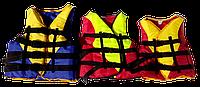 Жилет спасательный (страховочный), вес 90-110 кг салатово-красный