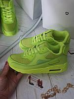 Кроссовки женские  реплика Nike салатовые