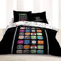 Комплект постельного белья Le Vele Iphone сатин 220-160 см, фото 1