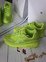 Лимонные кроссовки женские Nike Air Max