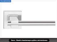 Дверная ручка  Stereo  нержавеющая сталь