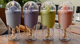 Бутылка с шейкером и трубочкой (4 цвета)