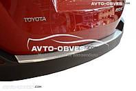 Накладка на бампер с загибом Toyota Rav4 2016-…