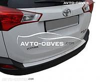 Накладка на задний бампер Toyota Rav4 IV 2016-… без загиба
