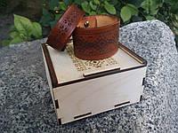Браслет из натуральной кожи, подарочная упаковка