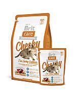 Корм Brit Care Cat Cheeky I´m Living Outdoor для кошек живущих на улице с олениной и рисом, 400 г