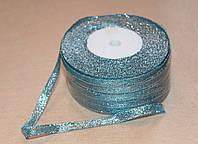 Лента парча 915-19 голубая 7 мм, фото 1
