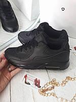 Женские кроссовки черные реплика Nike недорого