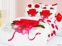 Постельное Белье Le Vele Букет Роз на Белом