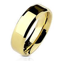 Обручальное кольцо из нержавеющей стали 316L Spikes США 15.75 17.25, Гладкая, золотой