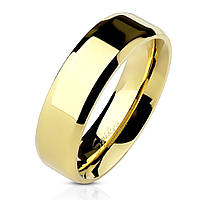 61da6c6a58e1 Обручальное кольцо из нержавеющей стали 316L Spikes США 15.75 17.25,  Гладкая, золотой