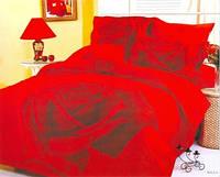Красное Постельное Белье Le Vele с Большой Розой