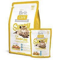 Корм Brit Care Cat Sunny I´ve Beautiful Hair для кошек, для шерсти с лососем и рисом, 400 г