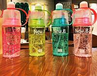 Бутылка для воды.New B. 400 мл  с поилкой, фото 1