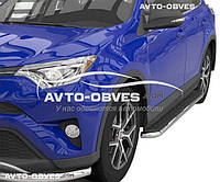 Дуги боковые Toyota Rav4 2016 - 2019 (стиль Elegant)