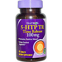 Natrol, 5-HTP (5-гидрокситриптофан) TR, Time Release, 100 мг, 45 таблеток