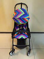 Детская коляска YOYA 175 Rainbow, 3 ярусный капор, Лавсан, легкая, складная, компактная Йойа радуга