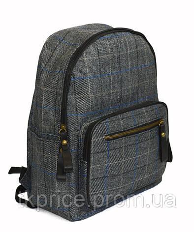 Бавовняний універсальний рюкзак для школи і прогулянок сірий, фото 2