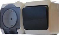 Блок - одноклавишный выключатель + розетка 2P+PE 2P316-3-В3-1-IP44N